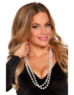 Collar perlas blancas