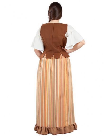 Disfraz de mesonera medieval mujer espalda