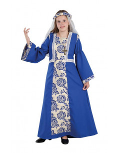 Disfraz de Princesa Medieval azul infantil