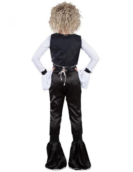 Disfraz cantante de los 80 espalda