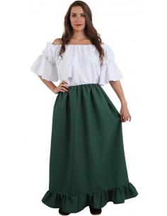 Falda medieval verde oscura 01