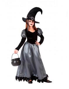 Disfraz de bruja elegante niña