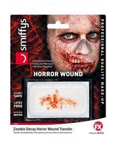 Herida en el labio zombie