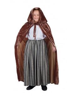 Capa medieval marrón infantil