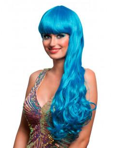Peluca sirena azul