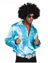 Camisa Disco Party turquesa