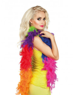 Boa multicolor plumas