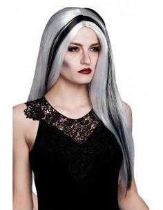 Peluca bruja gris