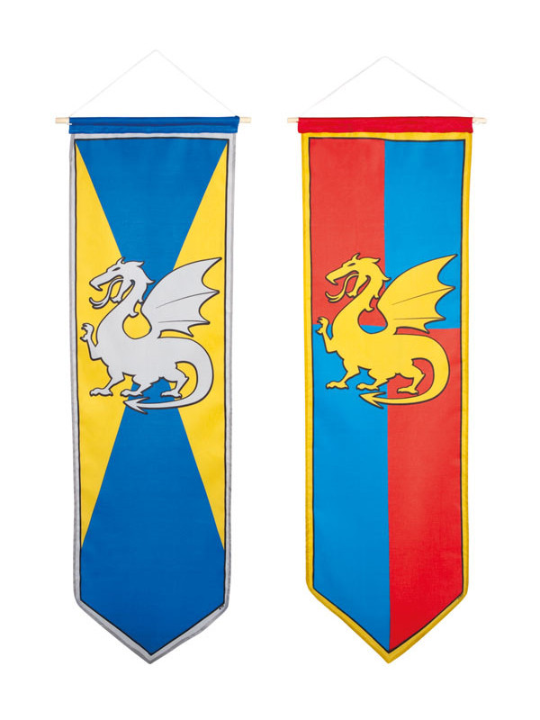Estandarte medieval Dragón