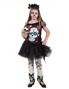 Disfraz Catrina tutú para niña