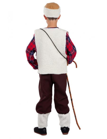Disfraz de pastor para niño espalda