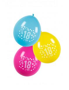 Globos cumpleaños con número 18
