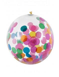 Globos con confeti multicolor