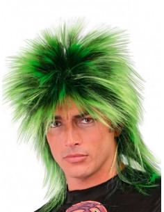Peluca punky verde