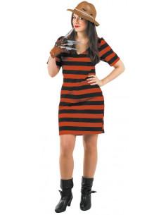 Vestido de Freddy Krueger muje