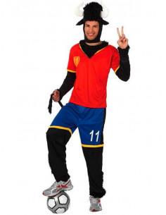 Disfraz toro futbolista español