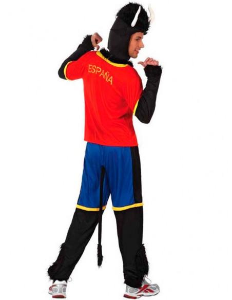 Disfraz toro futbolista español espalda