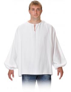 Camisas medievales de mesonero blanca