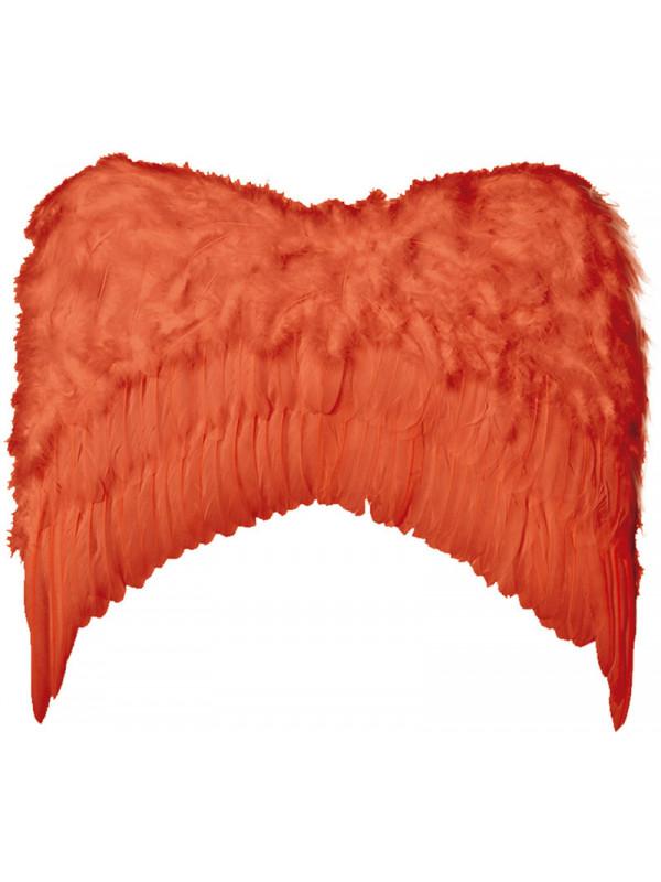 Alas de plumas grandes rojas
