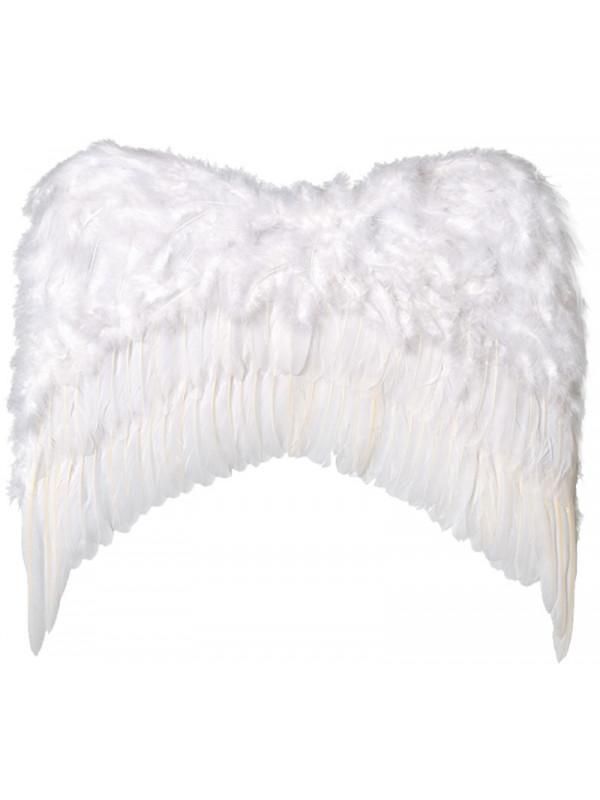Alas de plumas grandes blancas