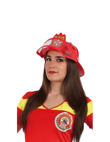 Casco bombero disfraz adulto