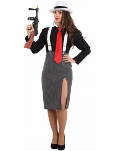 Disfraz de ganster mujer  Tallas-M