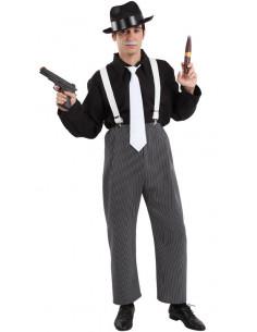 Disfraz de ganster hombre  Tallas-XL