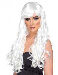 Peluca blanca larga