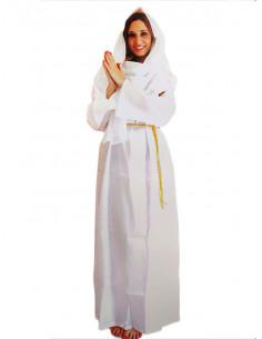 Disfraz Vírgen María blanca para mujer