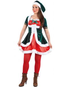 Disfraz elfa navidad