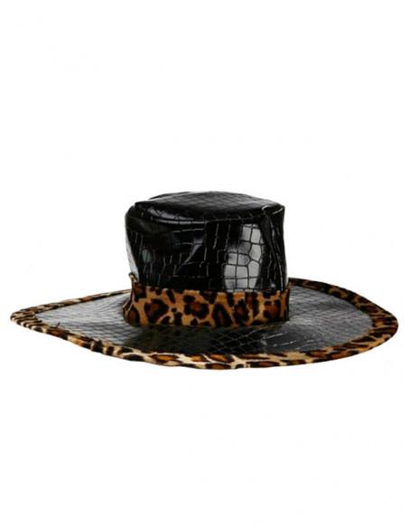 Sombrero borde leopardo Ski de serpiente