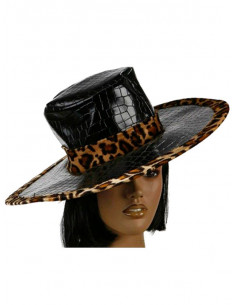 Sombrero borde leopardo