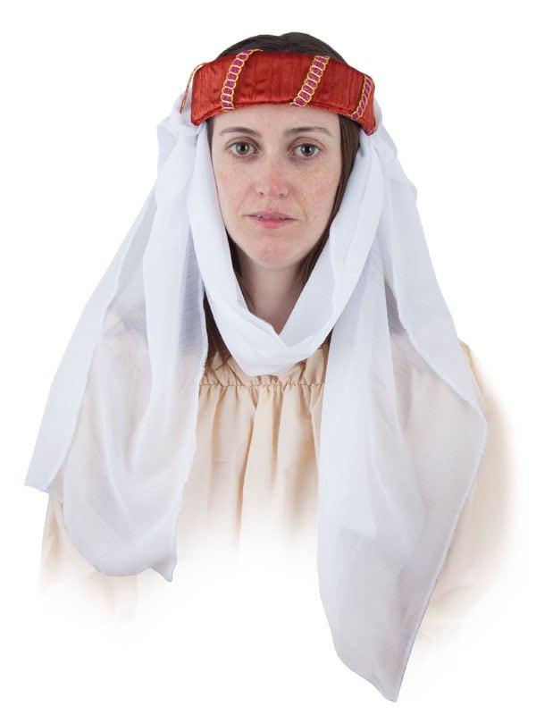Tocado medieval con velo - Comprar en Tienda Disfraces Bacanal