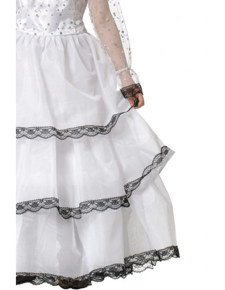 Disfraz de escarlata para niña detalle