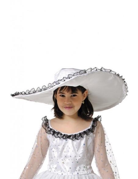 Disfraz de escarlata para niña sombrero