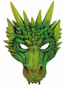 Máscara dragón verde