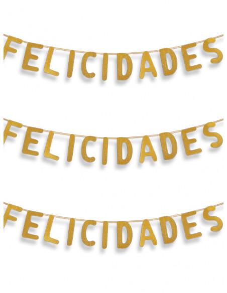 Guirnalda de Felicidades dorada
