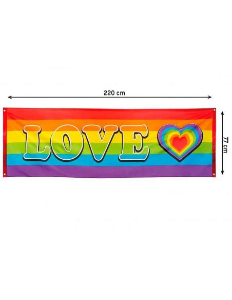 Pancarta Love Arco Iris medidias