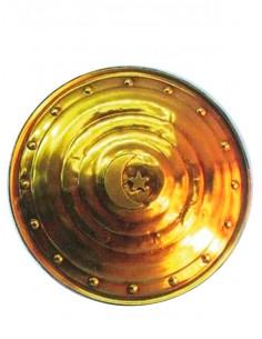 Escudo árabe con luna dorado