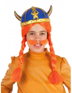 Casco de Vikingo azul infantil