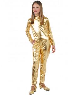 Mallas de oro metalizada niño