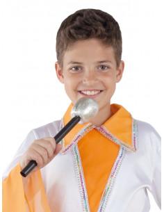 Micrófono para disfraz plata