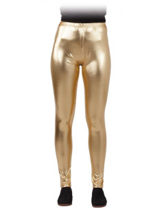 Leggings metalizados para mujer dorados