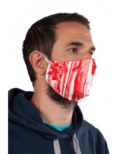 Mascarilla de Halloween sangrienta adulto