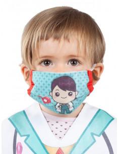 Mascarilla de tela doctora infantil