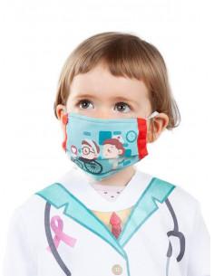 Mascarilla de tela enfermera infantil