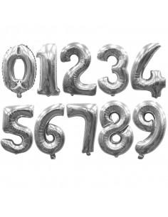 Globo número metalizado gigante