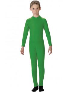 Mallas de lycra infantil verde de cuerpo entero