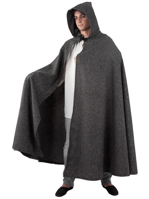 Capa medieval adulto negra