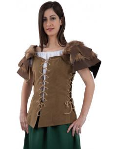 Corpiño cazadora medieval o vikinga